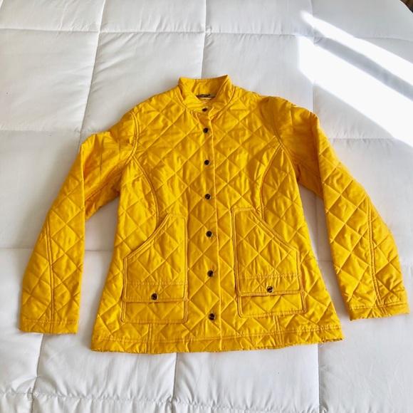 J. McLaughlin Jackets & Blazers - J McLaughlin yellow quilted silk jacket